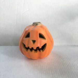 Vintage small foam Blowmold light up pumpkin